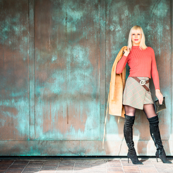Catherine in Ultra Suede Fall
